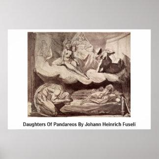 Daughters Of Pandareos By Johann Heinrich Fuseli Poster