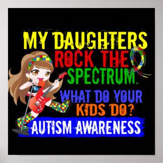 Daughters Rock The Spectrum Autism Posters