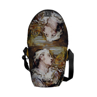 Daumier's Pierrot custom monogram messenger bag
