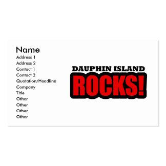 Dauphin Island, Alabama Business Card Template