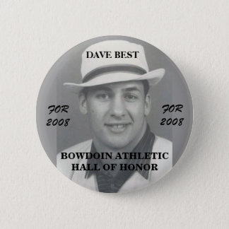 Dave Best 4 Bowdoin College Athletic Hall of Honor 6 Cm Round Badge