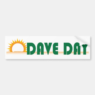 Dave Day (White) Bumper Sticker