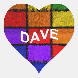 DAVE HEART STICKER