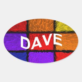DAVE OVAL STICKER