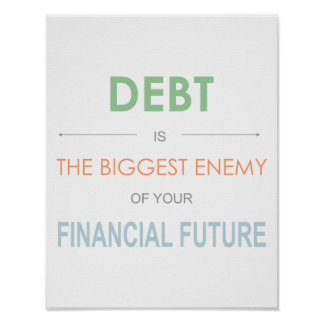 """Dave Ramsey """"Debt is the biggest enemy"""" Poster"""