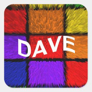 DAVE SQUARE STICKER