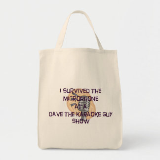 "Dave The Karaoke Guy ""I Survived"" Tote Bag"