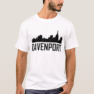 Davenport Iowa City Skyline T-Shirt