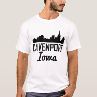 Davenport Iowa Skyline T-Shirt