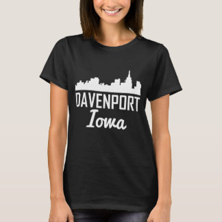 Davenport Iowa Skyline T-Shirt