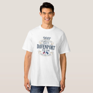 Davenport, New York 200th Anniv. White T-Shirt
