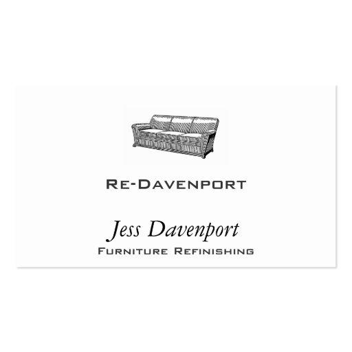 Davenport or Sofa Business Card Templates