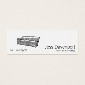 Davenport or Sofa Mini Business Card