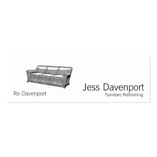 Davenport or Sofa Pack Of Skinny Business Cards