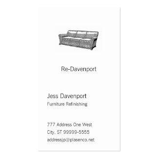 Davenport or Sofa Pack Of Standard Business Cards