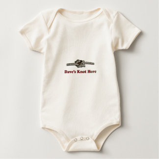 Dave's Knot Here SHORT - Multi-Products Baby Bodysuit