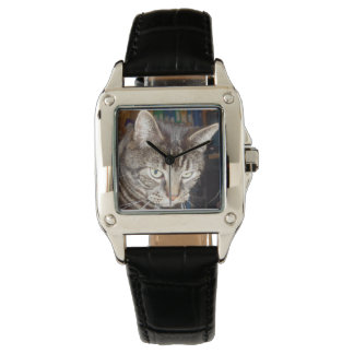 Dave's Watching You Perfect Square Leather Watch