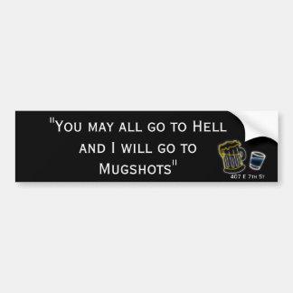 Davey Crockett Mugshots Bumper Sticker