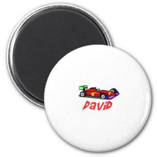 David 6 Cm Round Magnet