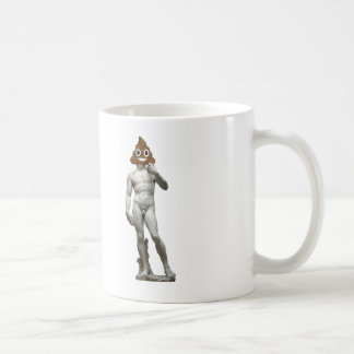 David by Michalangelo with Happy Poop Coffee Mug