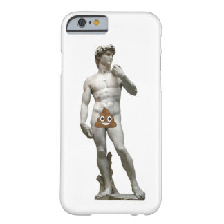 David by Michalangelo with Happy Poop (Modest) Barely There iPhone 6 Case