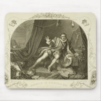 David Garrick (1717-79) as Richard III, Act V Scen Mouse Pad