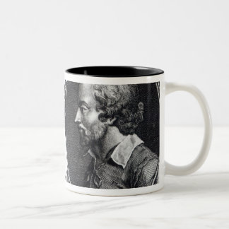 David Garrick and Shakespeare Two-Tone Coffee Mug