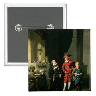 David Garrick with William Burton and John 15 Cm Square Badge
