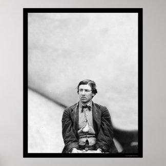 David Herold, Lincoln Conspirator 1865 Poster