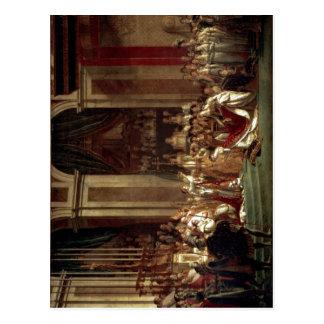 David, Jacques-Louis Napoleon kr?nt Kaiserin Jos?p Postcard