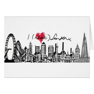 David K Parker's I (Heart) London x Card