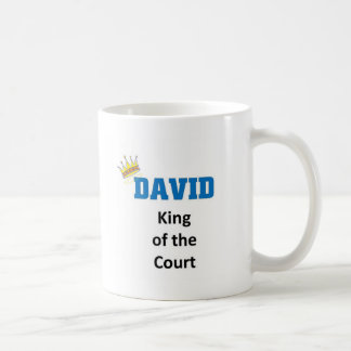 David king of the court coffee mug