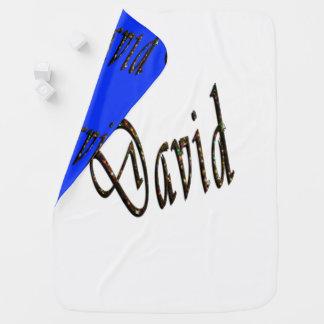 David, Name, Logo, Reversible Snugly Baby Blanket. Baby Blanket