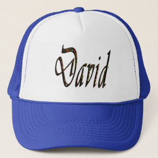 David Name Logo, Trucker Hat