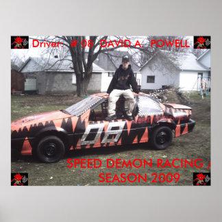 DAVID POWELL - SPEED DEMON RACING POSTER