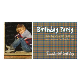 David s Birthday Party Photo Invitation Custom Photo Card