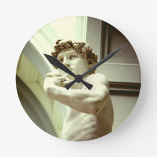 David - the eternal image of Florence Round Clock