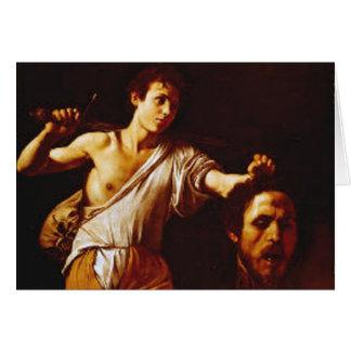 David with Goliath's Head Card