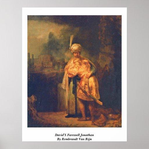 David'S Farewell Jonathan By Rembrandt Van Rijn Poster