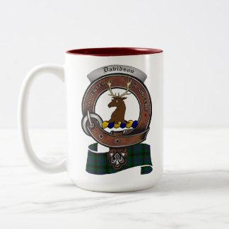 Davidson Clan Badge Two Tone 15oz Mug