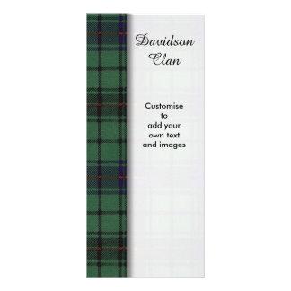 Davidson clan Plaid Scottish tartan Customized Rack Card
