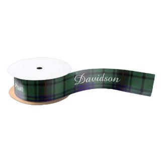 Davidson clan Plaid Scottish tartan Satin Ribbon