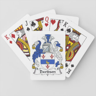 Davidson Family Crest Heraldry Playing Cards