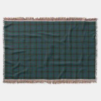Davidson Family Tartan Forest Green Plaid Throw Blanket