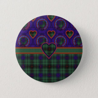 Davidson Scottish Tartan 6 Cm Round Badge
