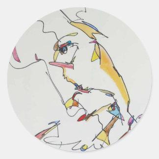 Davie Round Sticker