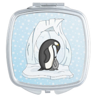 Davin and Annie the Penguins Compact Mirror