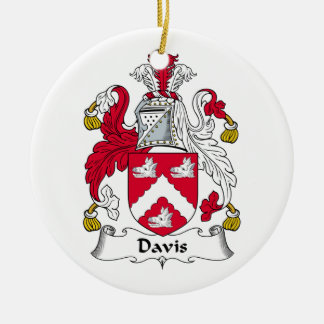 Davis Family Crest Ceramic Ornament