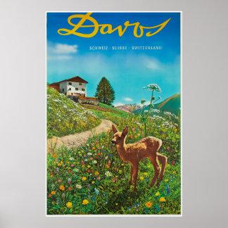 Davos, Parsenn, Switzerland, Ski Poster
