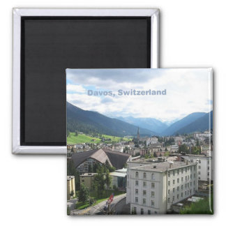 Davos Switzerland Photo Souvenir Fridge Magnets